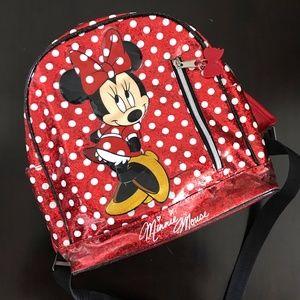 DISNEY Disneyland Minnie Mouse Glitter Backpack